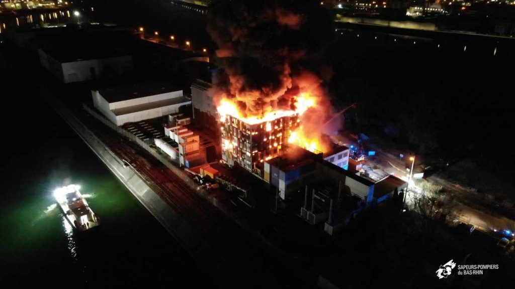 Fire at the OVH data center in France