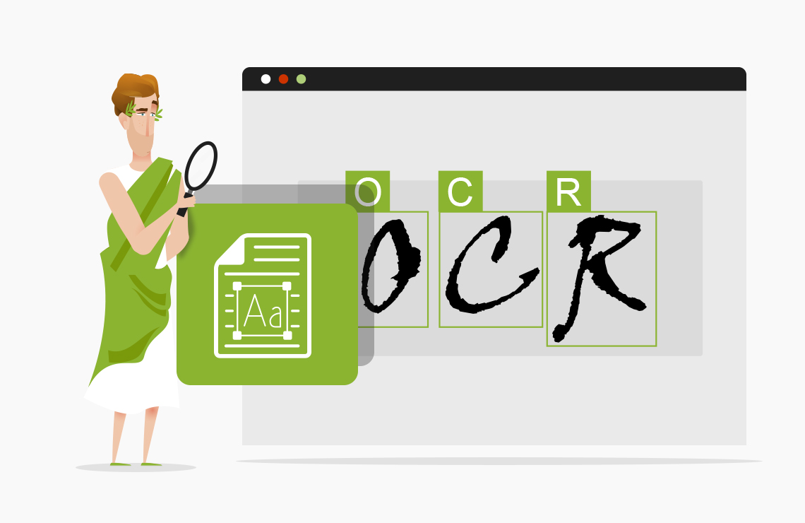 Illustration of how to OCR online with AvePDF